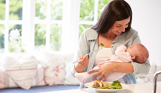 در دوران شیردهی چی بخوریم؟